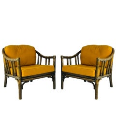 Pair of Vintage McGuire Lounge Chairs