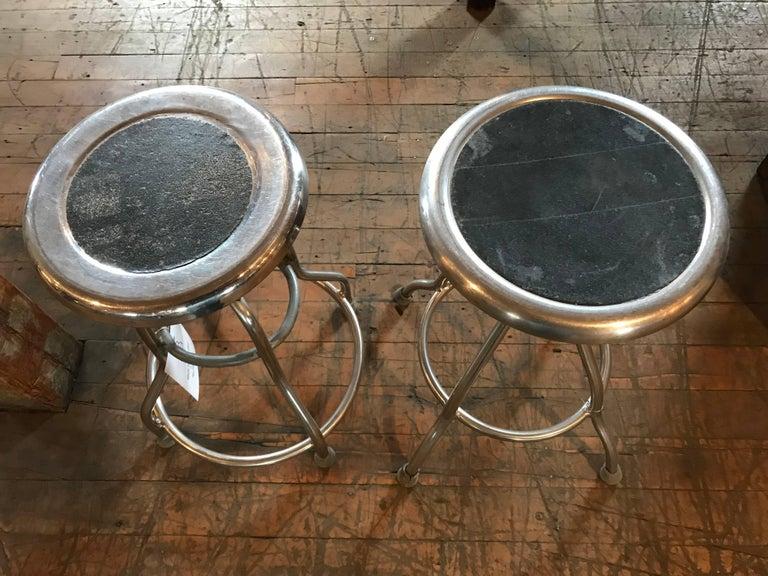 Pair of Vintage Medical Stools. 15 1/2