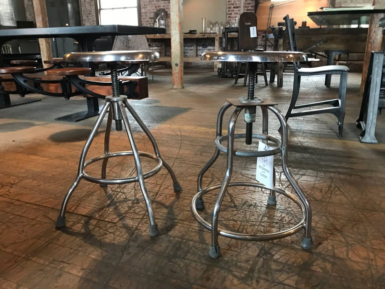 Pair of Vintage Medical Stools For Sale