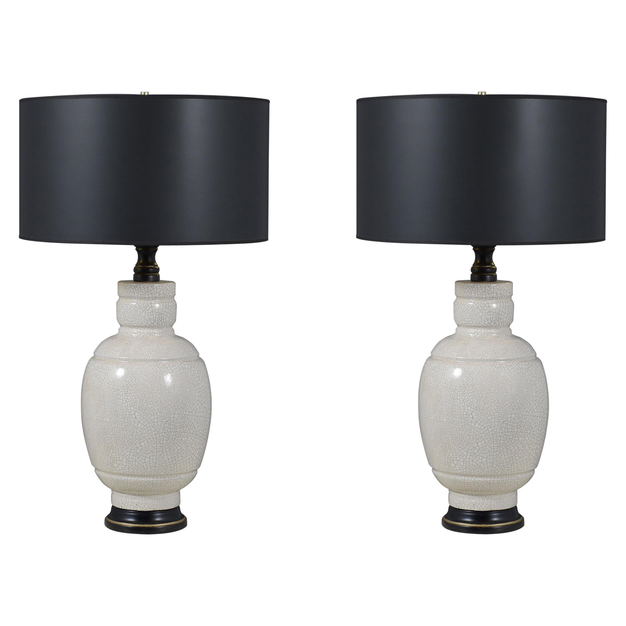Pair of Vintage Mid-Century Ceramic Table Lamps