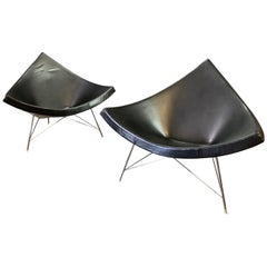 "Pair of Vintage Mid-Century Modern ""Coconut"" Chairs by George Nelson for Vitra"
