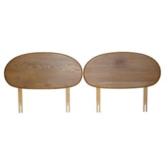 Pair of Vintage Mid-Century Modern Ercol G Plan Solid Elm Single Bed Headboards
