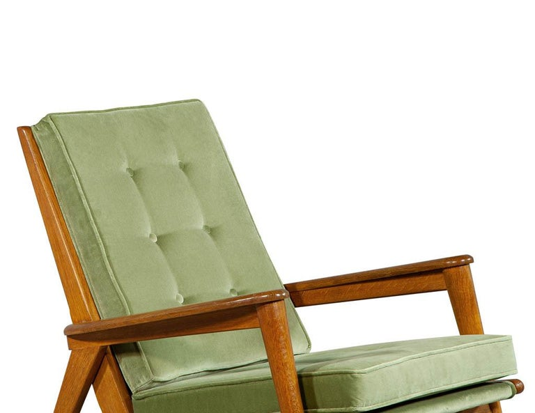 Pair of Vintage Mid-Century Modern Parlor Armchairs For Sale 5