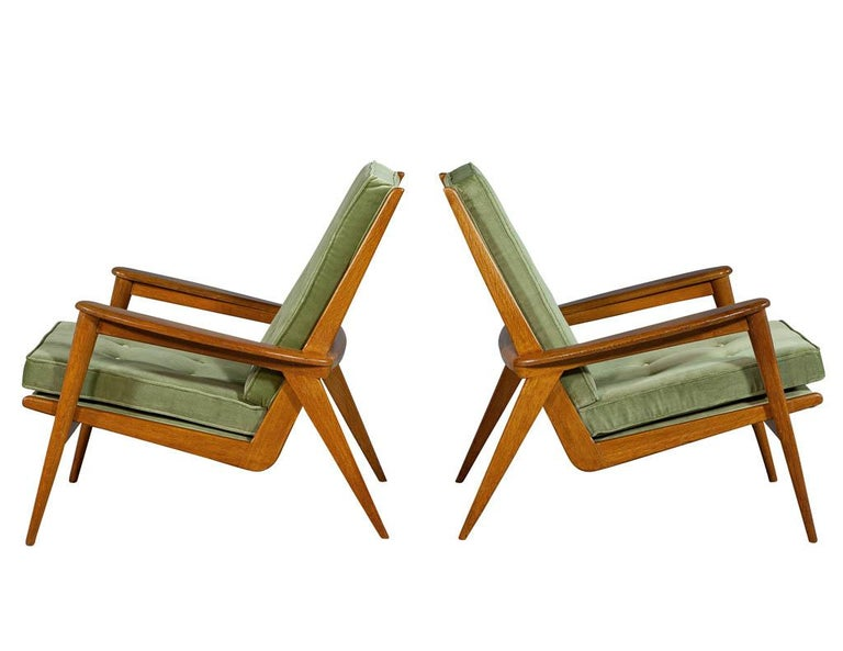 Danish Pair of Vintage Mid-Century Modern Parlor Armchairs For Sale