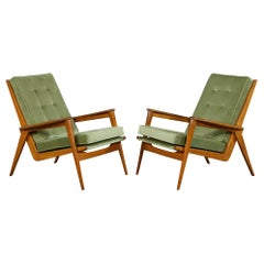 Pair of Vintage Mid-Century Modern Parlor Armchairs