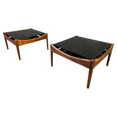 """Pair of Vintage Mid-Century Modern Rosewood """"Modus"""" Side Table by Kristian Vedel"""
