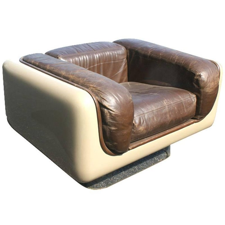 Mid-Century Modern Pair of Vintage Midcentury Andrus Steelcase Soft Seating Lounge Chairs For Sale