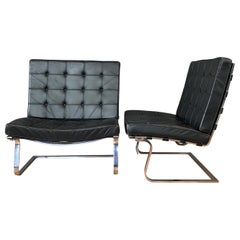 Pair of Mies van der Rohe for Knoll International MR70 Tugendhat Chairs, 1960s
