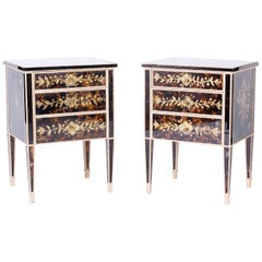 Pair of Vintage Mirrored Venetian Nightstands or End Tables