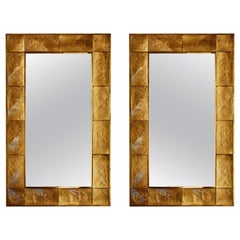 Pair of Vintage Mirrors in Murano Glass