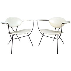 Pair of Vintage Modern Chairs By Joseph Cicchelli