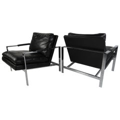 Pair of Vintage Modern Milo Baughman Lounge Chairs for Thayer Coggin