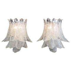 Pair of Vintage Murano Six-Tier Felci Wall Sconce