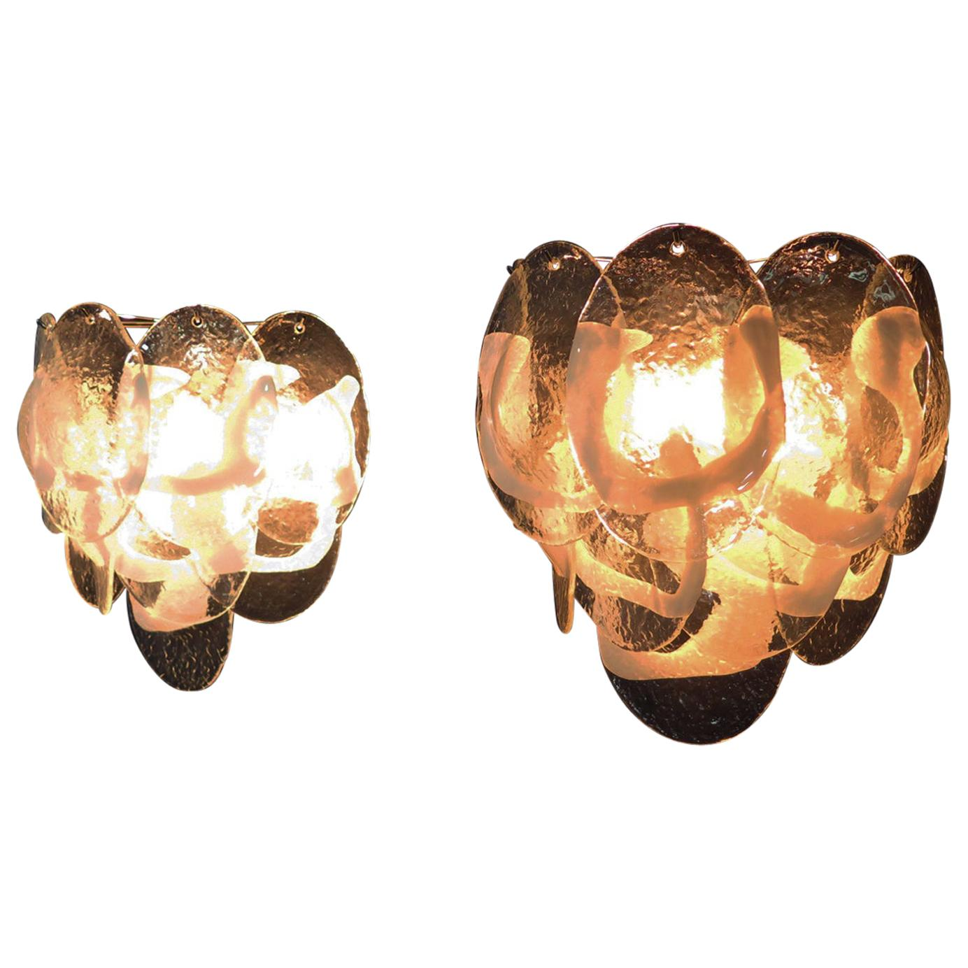 Pair of Vintage Murano Wall Sconce, 1970s