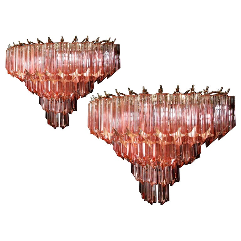 Pair of Vintage Murano Wall Sconce, 1980s For Sale