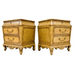 Pair of Vintage Nightstands or Commodes With Marble Tops