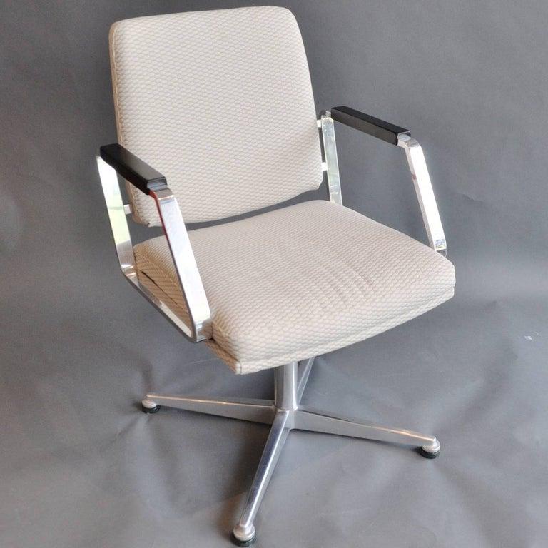Mid-Century Modern Pair of Vintage Office Swivel Chairs