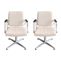 Pair of Vintage Office Swivel Chairs