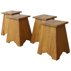 Pair of Vintage Olive Wood Tables, France, 1960s, Two Pairs Available