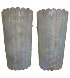 Pair of Vintage Opalescent Murano Glass Sconces