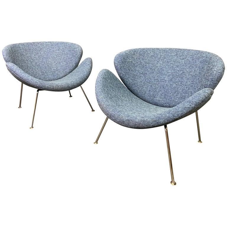 "Pair of Vintage ""Orange Slice"" Lounge Chairs by Pierre Paulin for Artifort"