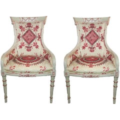 Pair of Vintage Painted Armchairs