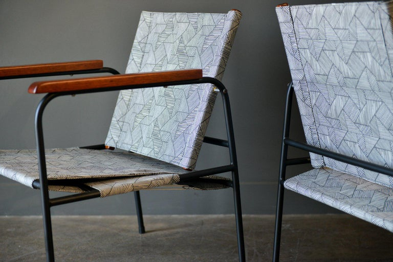 Pair of Vintage Patio Chairs, circa 1970 For Sale 5