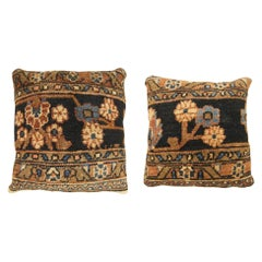 Pair of Vintage Persian Hamadan Pillow