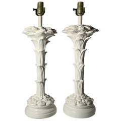 Pair of Vintage Plaster Lamps in style of Serge Roche