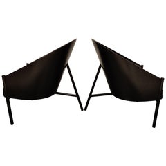 Pair of Vintage Pratfall Chairs by Philippe Starck for Driade, 1982
