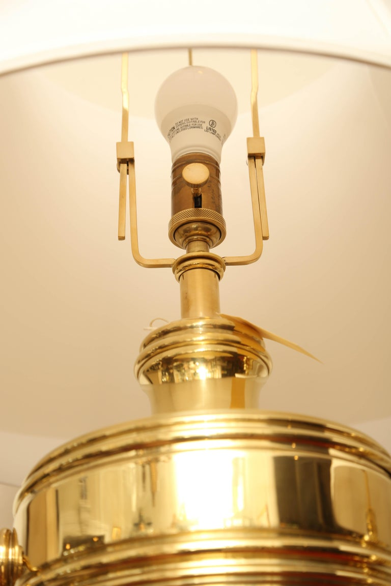 Pair of Vintage Ralph Lauren Brass Urn Style Lamps For Sale 2