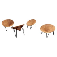 Vintage Rattan Tub Chairs, 1960s