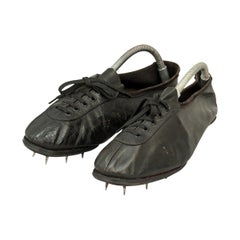 Pair of Vintage Running Spikes, Athletes Sprinting Shoes