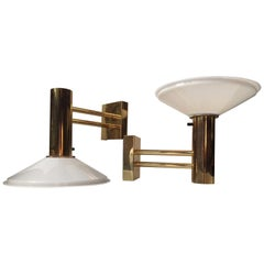 Pair of Vintage Scandinavian Nautical Brass Sconces, 1960s