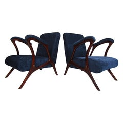 Pair of Vintage Sculpted Armchairs