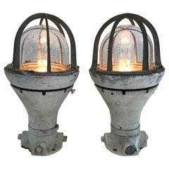 Pair of Vintage Ship Lanterns
