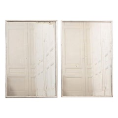Pair of Vintage Silver Giltwood Frames with Antique Glass Plate
