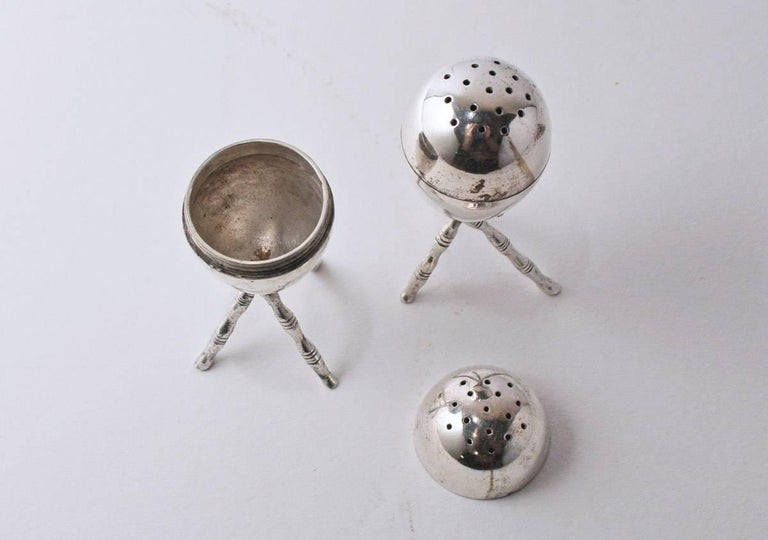 Other Pair of Vintage Silver Plated Salt and Pepper Shakers For Sale