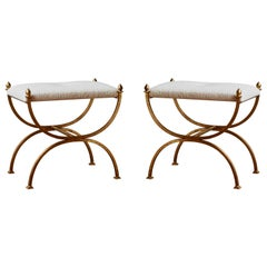 Pair of Vintage Stools, Italy, 1980s
