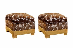 Pair of Vintage Stools With Gucci Fabric