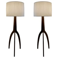 Pair of Vintage Style Tripod Floor Lamps