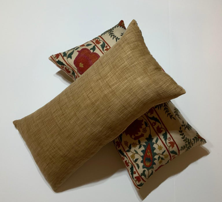 Pair of Vintage Suzani Pillows For Sale 5