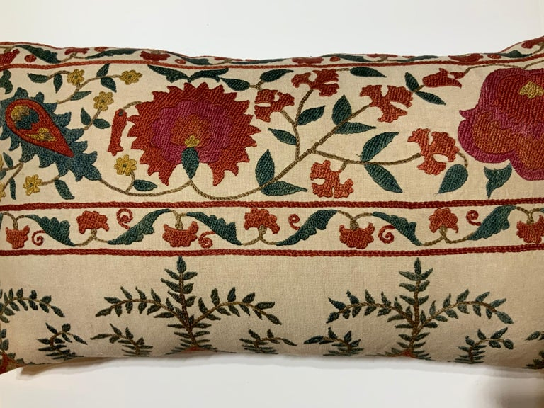 Pair of Vintage Suzani Pillows For Sale 1