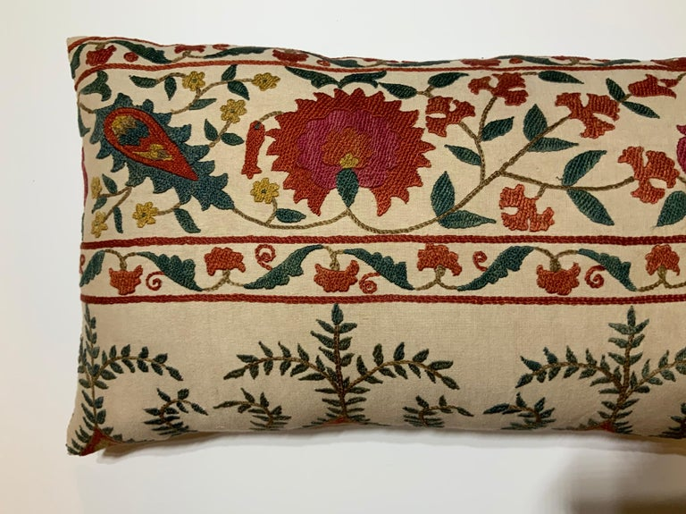 Pair of Vintage Suzani Pillows For Sale 2