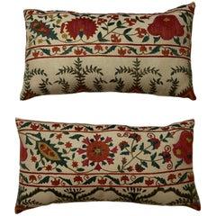 Pair of Vintage Suzani Pillows