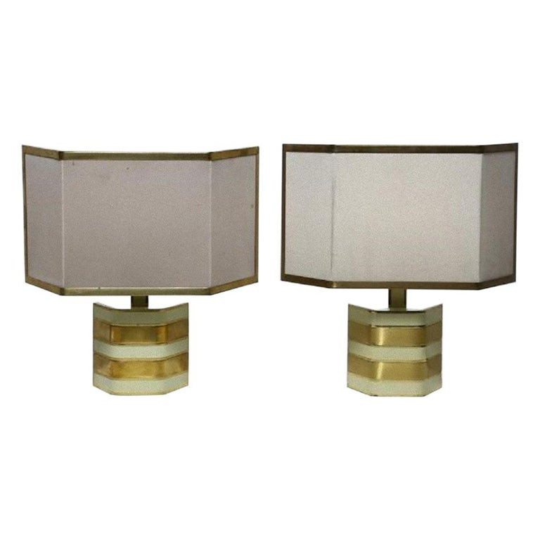 Pair of Vintage Table Lamps by Gaetano Sciolari, Italy, 1960s For Sale