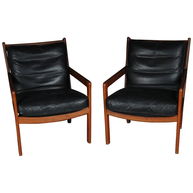 Pair of Vintage Teak Armchairs, Chairs, 1960s-1970s, Danish For Sale