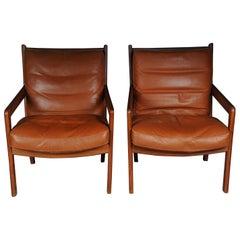 Pair of vintage teak armchairs, chairs 60s / 70s, Danish
