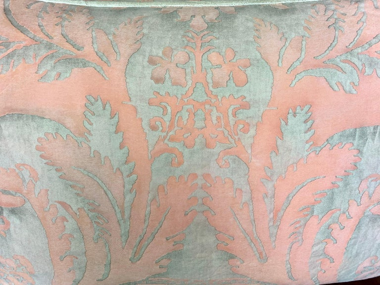 Baroque Pair of Vintage Textile Fortuny Pillows For Sale