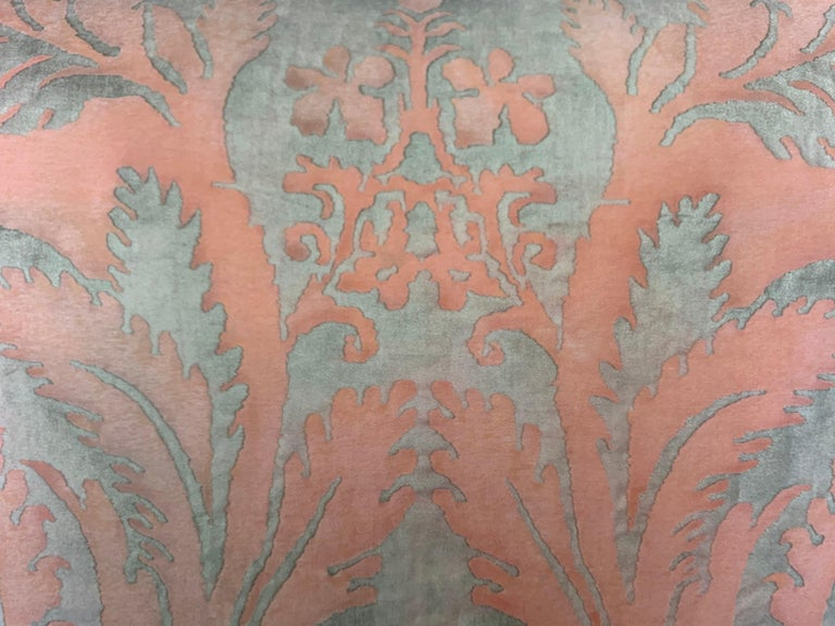 20th Century Pair of Vintage Textile Fortuny Pillows For Sale